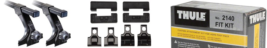 Car Rack Parts - Fit Kits, Foot Packs, Towers