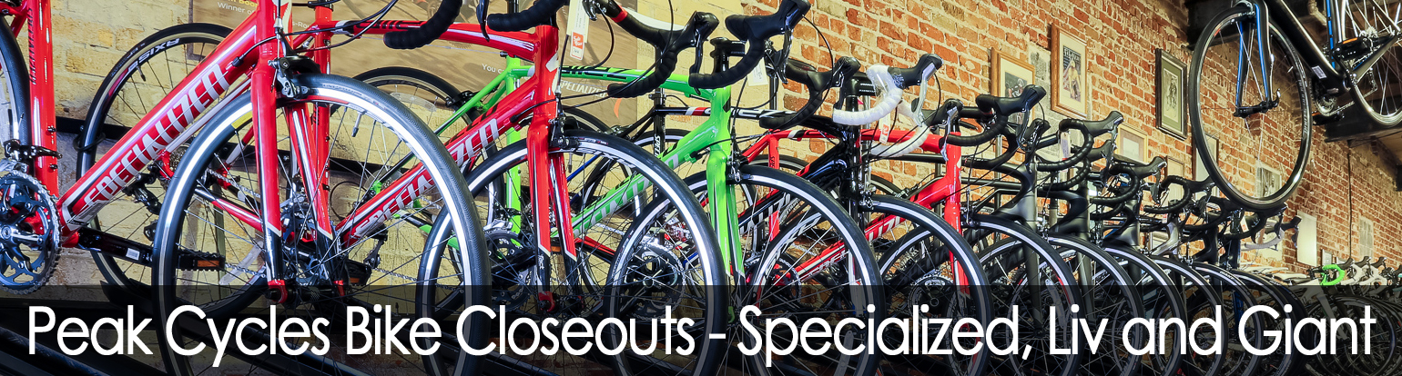 Peak Cycles Closeout Bikes | Specialized and Giant