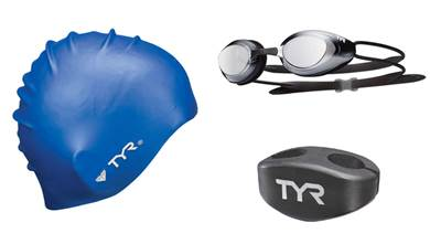 Triathlete - Gear, Caps, Goggles