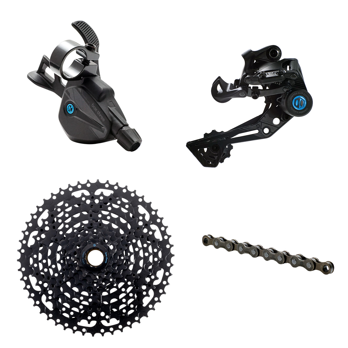 BOX Three Prime 9 X-Wide Groupset, Multi Shift