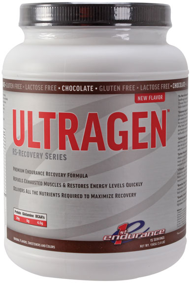 1st Endurance Ultragen Recovery Mix, Chocolate - 3lb/Canister