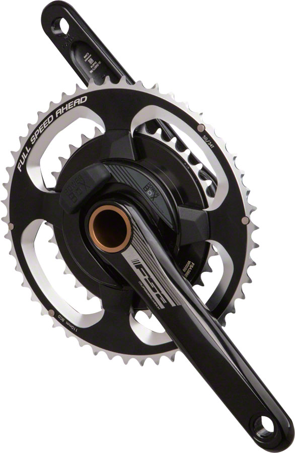 FSA (Full Speed Ahead) PowerBox Alloy Power Meter Crankset - 172.5mm, 11-Speed, 50/34t, 110 FSA ABS BCD, 392 EVO Spindle Interface, Black