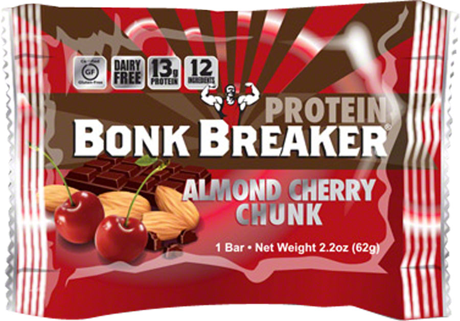 Bonk Breaker High Protein Energy Bar: Almond Cherry Chunk, Box of 12