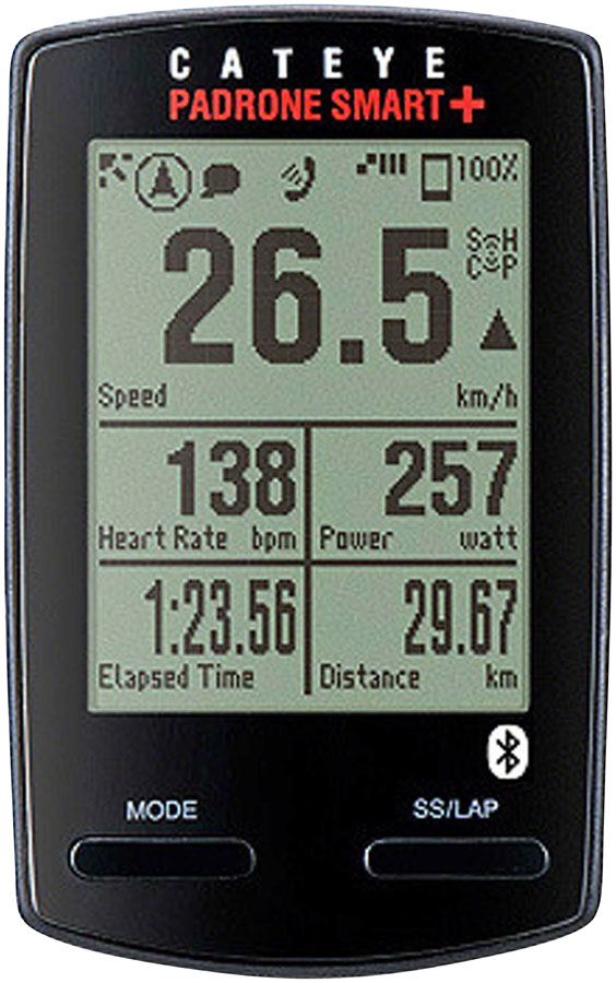 CatEye Padrone Smart+ Bike Computer - Wireless, Black