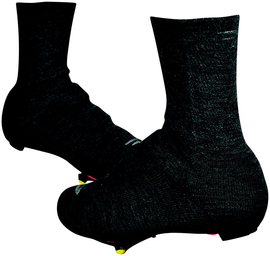 "Defeet Slipstream Strada Shoe Cover: 5"" Charcoal Wool MD/LG"