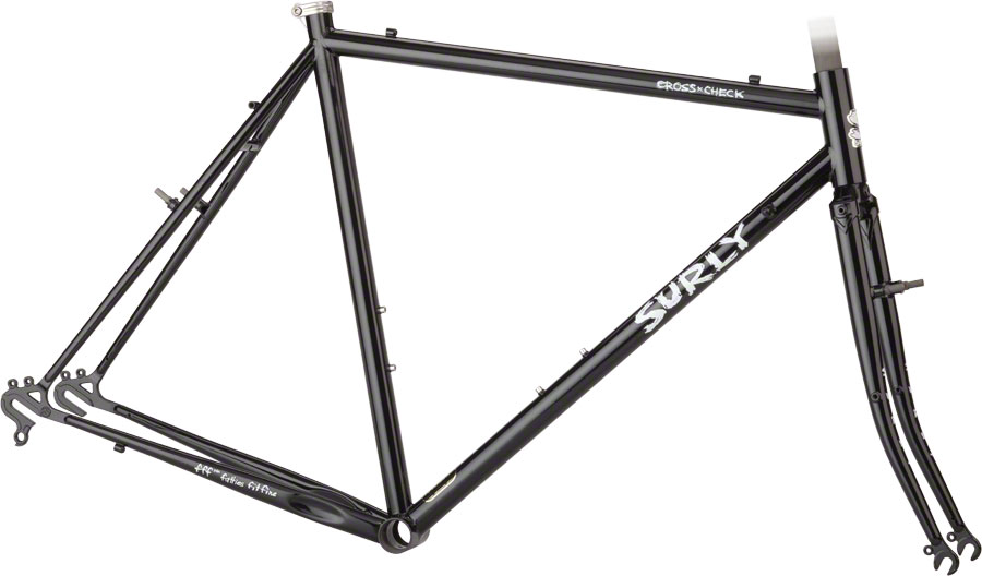 Surly Cross Check 54cm Frameset Black New Crown