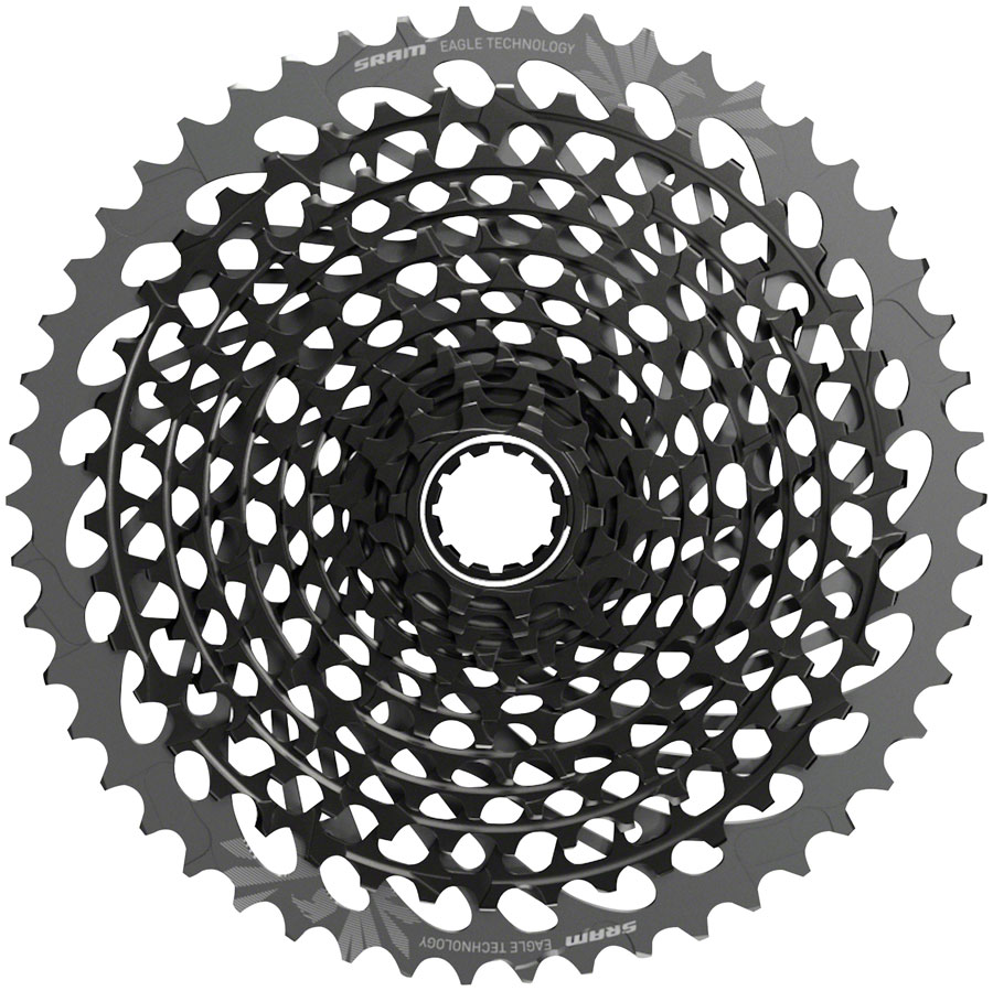 SRAM X01 Eagle AXS XG-1295 Cassette - 12-Speed, 10-50t, Polar Grey, For XD Driver Body