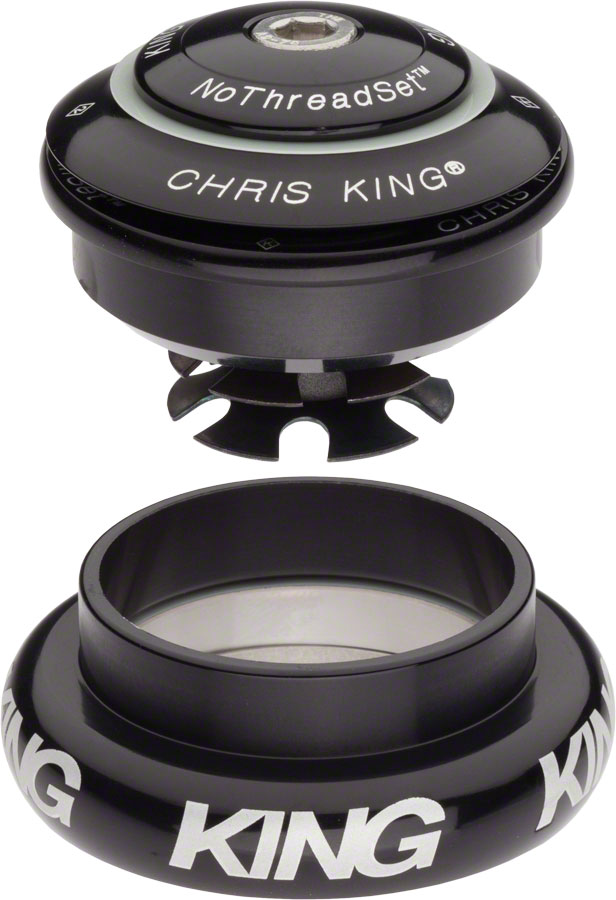 "Chris King InSet 7 Headset, 1 1/8-1.5"" 44mm Black"