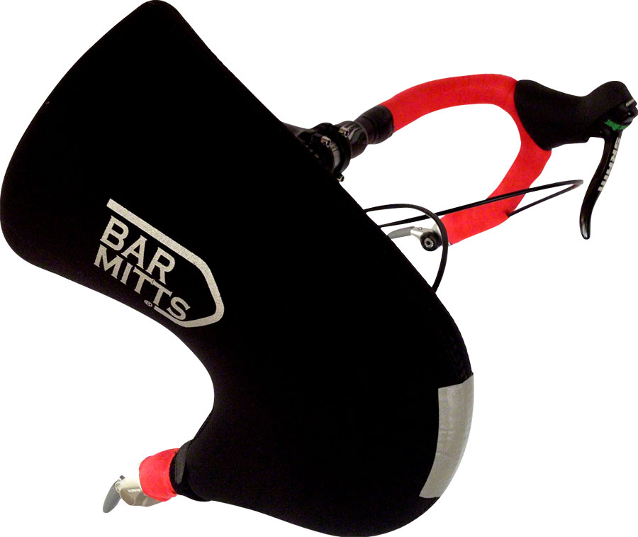 Bar Mitts Bar End Shifter Pogie Handlebar Mittens: One Size, Black