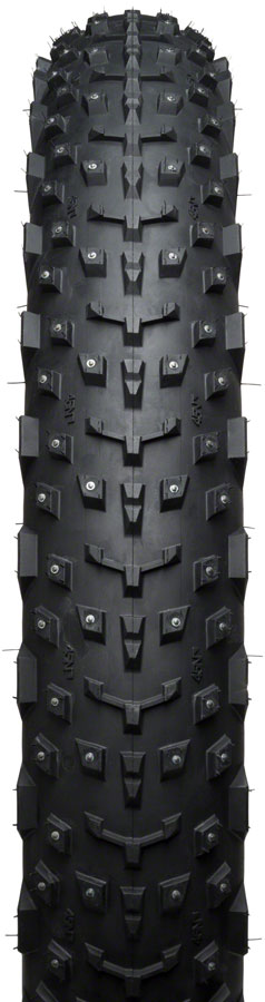 45NRTH Dillinger 4 Tire - 26 x 4, Tubeless, Folding, Black, 60tpi, 240 Carbide Steel Studs