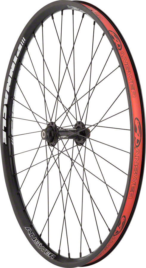 "Answer BMX Pinnacle 24 x 1.75"" Wheelset Black"